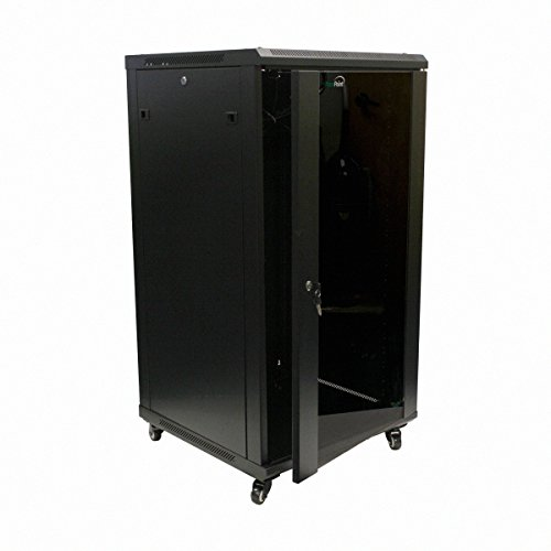 NavePoint 22U IT Wall Mount Network Server Data Cabinet Rack Glass Door Locking Casters (Rack Cabinet compare prices)
