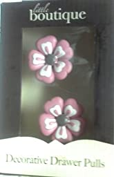 Little Boutique Pink Flowers Drawer Pulls