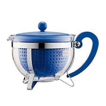 bodum chambord teekanne 12 tassen 1 5 l blau glas. Black Bedroom Furniture Sets. Home Design Ideas
