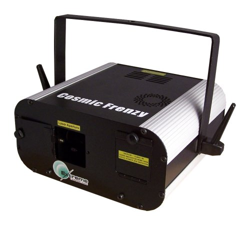 [Multicolor Cosmic Frenzy Laser Light Show Projector (Red Green Yellow)] (Big Fog Machine)