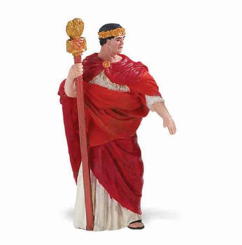 Safari Ltd Historical Collections - Emperor of Ancient Rome - Realistic Hand Painted Toy Figurine Model - Quality Construction from Safe and BPA Free Materials - For Ages 3 and Up - 1
