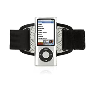 Griffin iClear Armband Case with Clip for iPod nano 5G (Black/Clear)