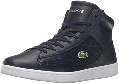 Lacoste Women's Carnaby Evo Mid G316 1 Fashion Sneaker, Navy/Navy, 6 M US