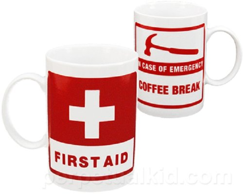 Ceramic First Aid Coffee Mug - Tea Cup (First Aid Beverages compare prices)