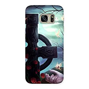 Cute Crossed Circle Multicolor Back Case Cover for Galaxy S7