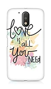Amez designer printed 3d premium high quality back case cover for Motorola Moto G4 Plus (Love Quote 6)