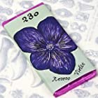 Dark Chocolate Floral Bar with Violet