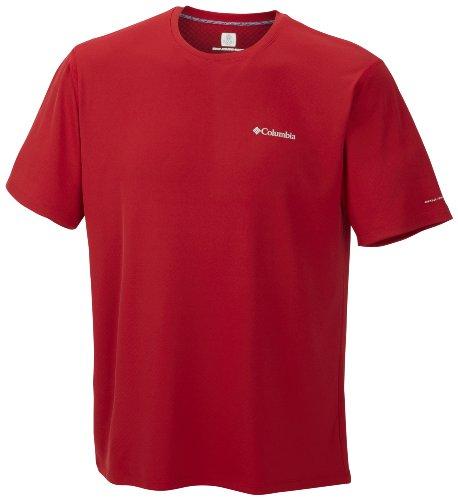 Columbia, Maglietta sportiva Uomo maniche corte Zero Rules, Rosso (Rocket), L