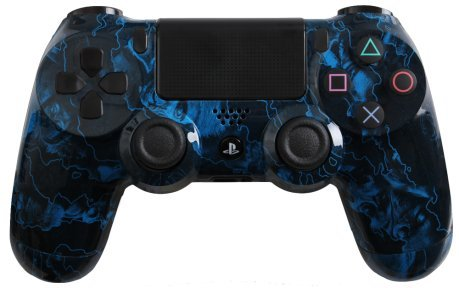 Custom Playstation 4 Controller Special Edition Blue Zombie Hazard Controller