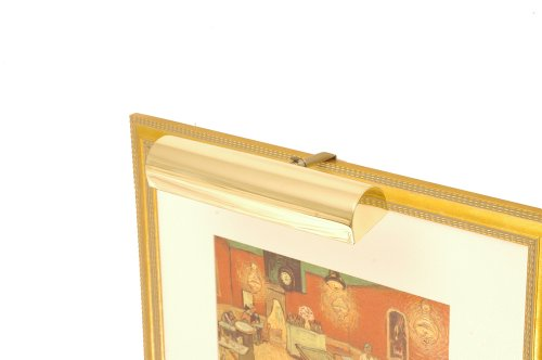 Concept Lighting 101 Ultra Efficient Cordless Picture Light, Brass 11-1/2-Inch