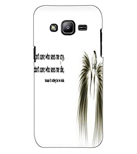 ColourCraft Angel Quote Design Back Case Cover for SAMSUNG GALAXY J2 DUOS