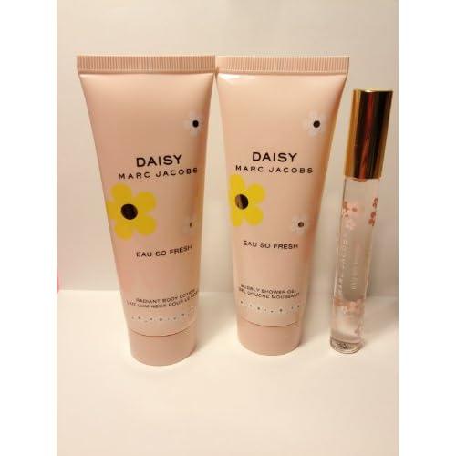 Amazon Com Marc Jacobs Daisy Eau So Fresh Radiant Body Lotion Bubble Shower Gel Eau De