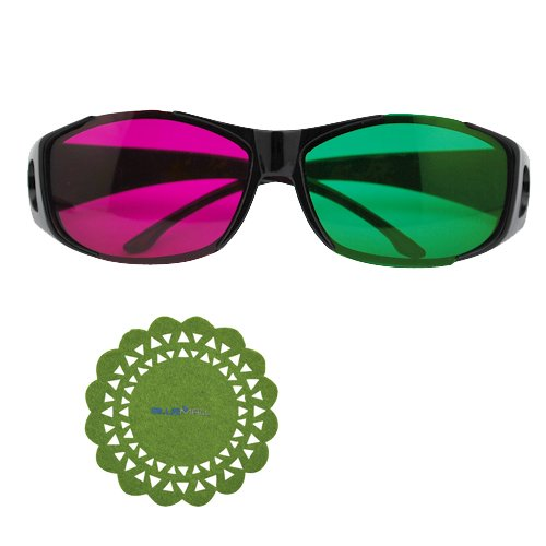 GTMax Black Cover Style 3D Magenta/Green Glasses