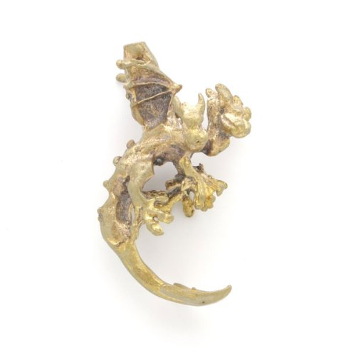 Solid Brass Three Headed Dragon Charm