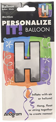 Anagram International Letter H Quad Package Balloon, 18""