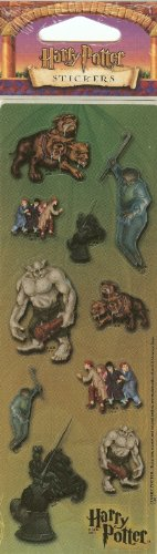 Harry Potter Glossy Stickers - Chess Pieces, Fluffy, Magical Creatures - 1