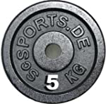 4X 5 KG DISCS WEIGHT PLATES SC