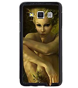 Printvisa Haunted Girl With Scary Eyes Back Case Cover for Samsung Galaxy E7::Samsung Galaxy E7 E700F