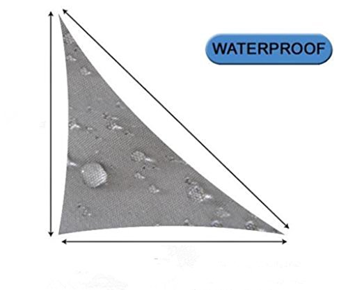 OUTERSUN 10'x 10'x 10' Triangle Sun Sail Shade Water Proof Outdoor Canopy Top Cover Patio Lawn, Gray (Patio Retractable Sun Shade compare prices)