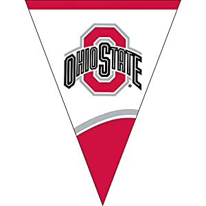 Creative Converting Plastic Flag Banner, Ohio State University, Scarlet/White by Creative Converting