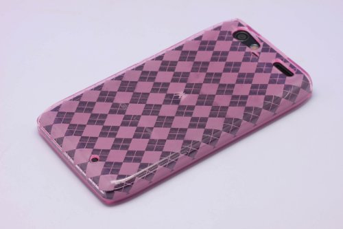 Cruzer Lite Argyle TPU Skin Case for Razr Maxx - Side