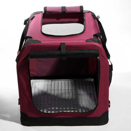 "Masione Red 32"" Dog Cat Portable Travel House Pet Folding Crate Cage Kennel Xl-32 X 23 X 23 Inches 40 Lbs front-605294"