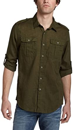 Joe's Jeans Men's The Shirt - Relaxed Military - Shabwdr4,Olive,Medium