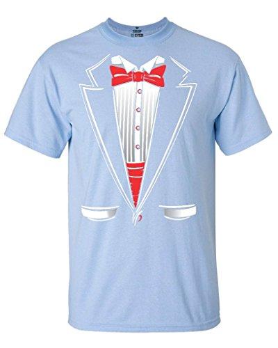 Shop4Ever Tuxedo Funny T-shirt Funny Shirts Large Light BlueA82 (Blue Tuxedo T Shirt compare prices)