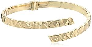 14k Yellow Gold Italian Small By Pass Bangle Bracelet