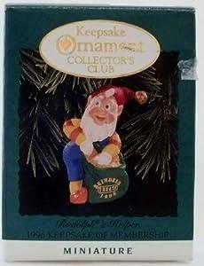 Rudolph's Helper 1996 Miniature Hallmark Ornament QXC4171