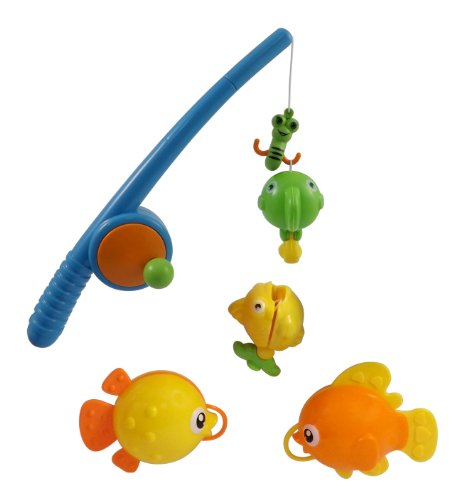 Rod and Reel Fishing Fun Bathtub Bath Toy Set for Kids with Fish and Fishing Pole - 1