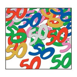 Fanci-Fetti 50 Silhouettes (multi-color) Party Accessory  (1 count) (.5 Oz/Pkg)