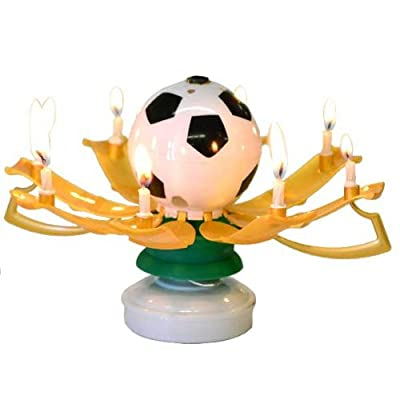 Cheapest 1 X The Amazing Singing Birthday Candle, Soccer Themed by Jx - Free Shipping Available