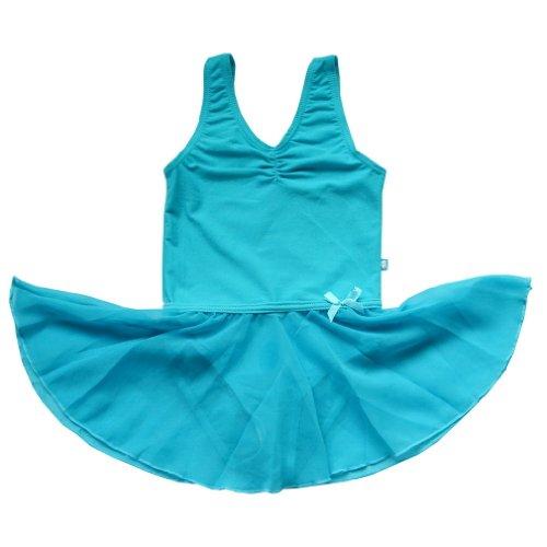 Bhl Girls' Leotard 2-14Y Chiffon Skirt (2-3Y, Blue)