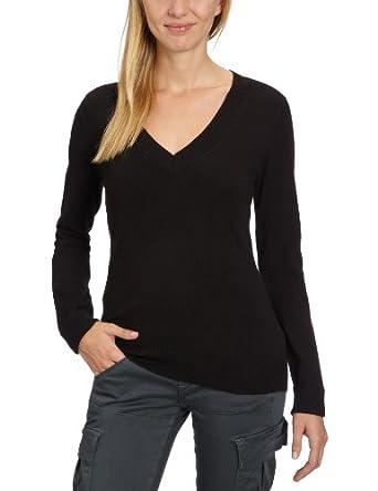 ONLY Damen Pullover 15070975/LUNA DEEP V-NECK PULLOVER KNT BB, Gr. 38 (M), Schwarz (BLACK)