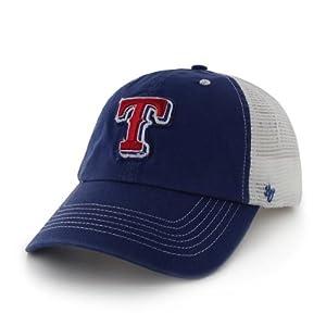 Texas Rangers 47 Brand Blue White Mesh Blue Mountain Flexfit Hat Cap by