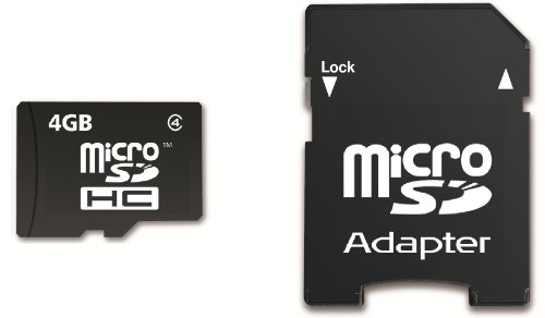 Memzi Sdhc-Speicherkarte, 4 GB, Class 4 Micro SDHC Speicherkarte mit Sd-Adapter für Sony Action Cam Series Digital Camcorder