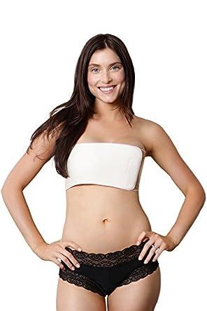 Bosom Bandit breast support wrap breast binder suppress lactation (M, Nude)