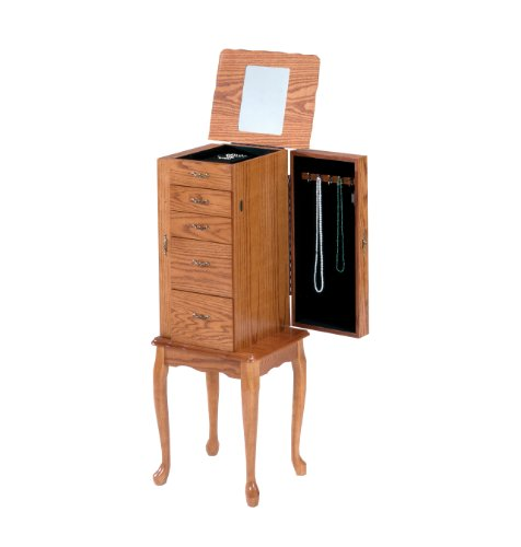 Dark Wood Jewelry Armoire front-1037973