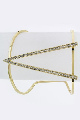 Chic Chelsea Crystal Triangle Open Cuff