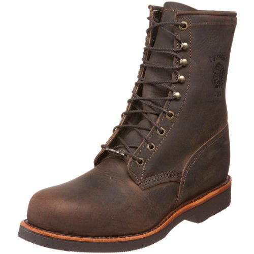 "Chippewa Men's 20071 8"" Lace-Up Boot,Chocolate Apache ,6 2E US"