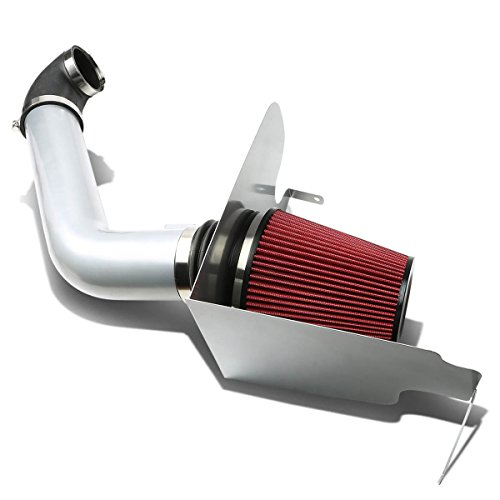 DNA Motoring AIP2HSFF15004SLSL Cold Air Intake Pipe+Heat Shield System (2005 Ford F150 Air Intake compare prices)