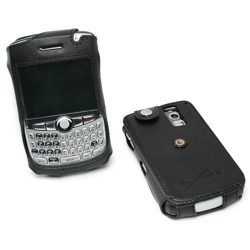 BoxWave Designio Leather T-Mobile Blackberry Curve 8320 Sleeve (Jet Black)