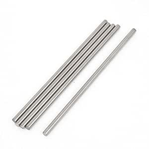 5pcs RC Car Toy Stainless Steel Straight Round Rods Shafts 3mmx90mm