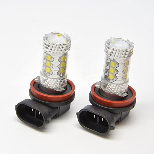 {Factory Direct Sale} (Pack Of 2) H8 15W 12V Hid 15 Led Smd Car Auto Vehicle Fog Driving Drl Headlight Light Lamp Bulbs White Replacement 6000K