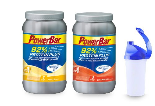 PowerBar Proteinplus 92% 2 x 600g Dose Mix inkl. Shaker
