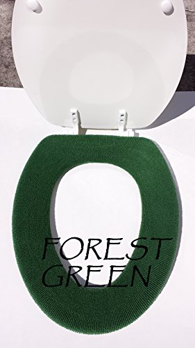 Bathroom Toilet Seat Warmer Cover - Forest Green - Washable