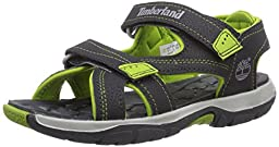 Timberland Mad River 2 Strap Sandal (Toddler/Little Kid/Big kid),Grey/Green,8 M US Toddler