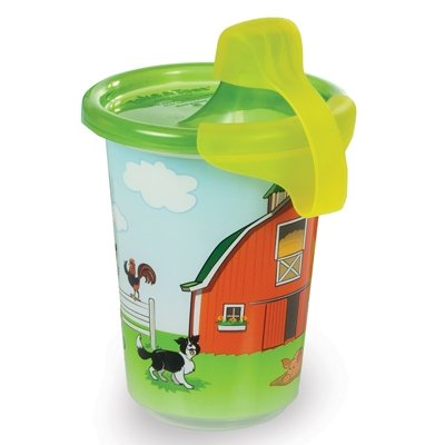 John Deere Take & Toss Sippy Cup, 3 Pack with Bonus Travel Cap - 1