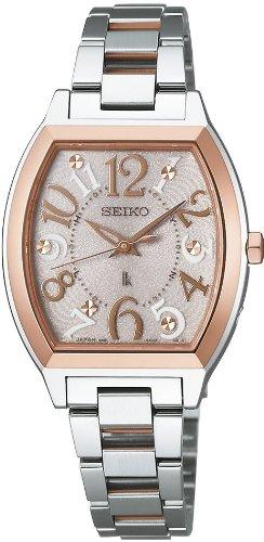 [セイコー]SEIKO 腕時計 LUKIA ルキア ソーラー電波 ミルキーピンク SSVE052 レディース